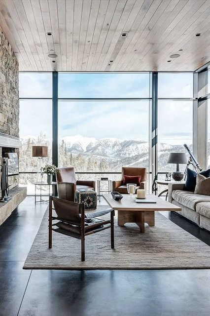 16 Glamorous Chalet Living Room Designs That Wows