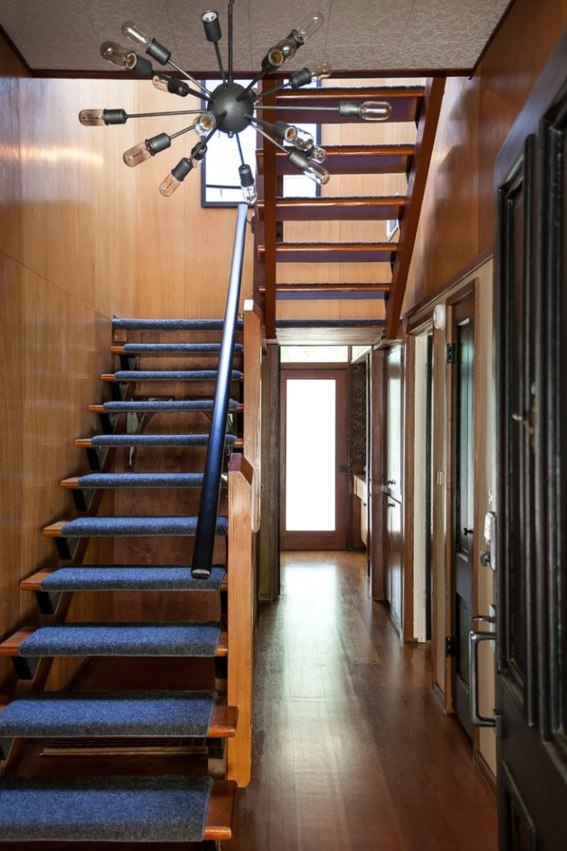 15 Outstanding Mid Century Modern Staircase Designs   Mid Century Modern Banister