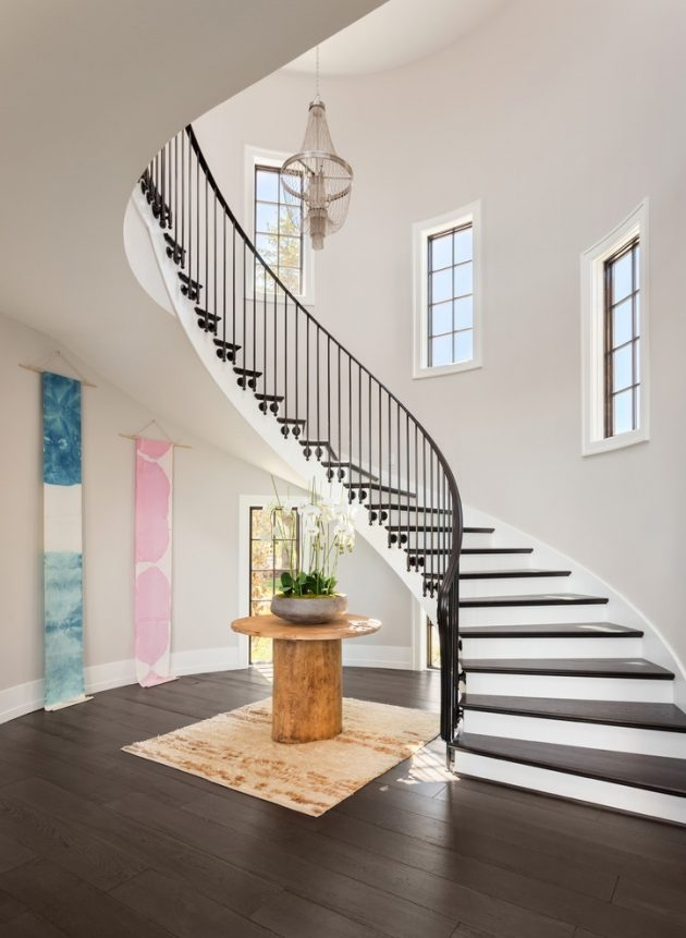 18 Graceful Transitional Staircase Designs Your Home Longs For   Stairs For Homes Designs   Tv Lounge   Fabrication   Creative   Small House   Residential