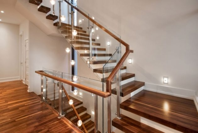 10 Fascinating Wood Glass Staircase Designs For Elegant Home | Wood And Glass Staircase | Stair Case | Simple | Spiral | Small | Light Oak Glass