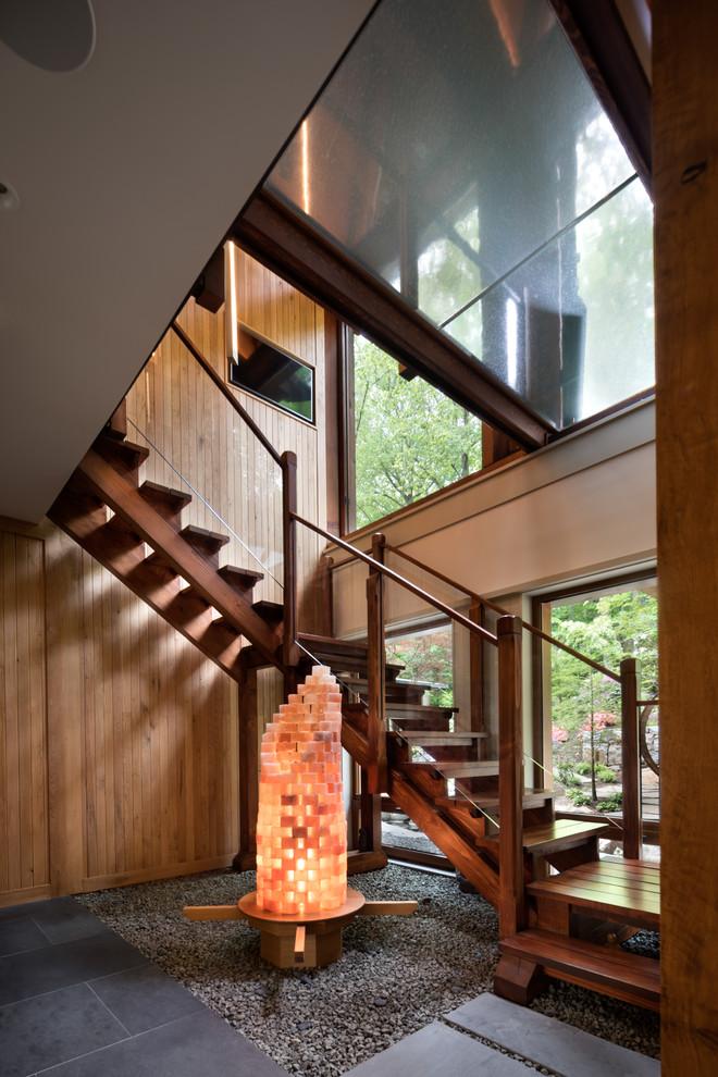 15 Stellar Mid Century Modern Staircase Designs That