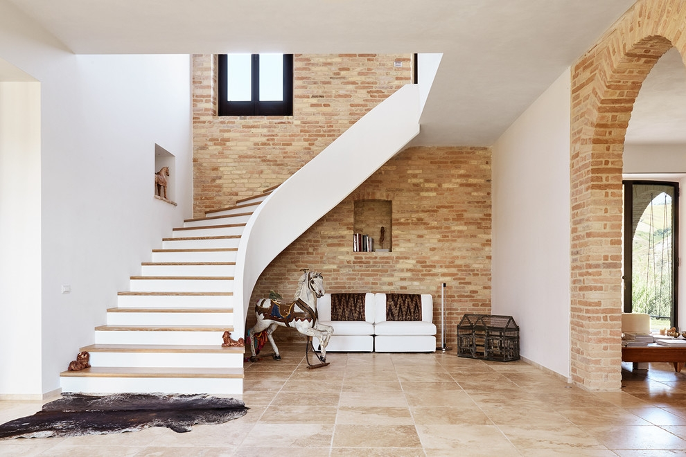 20 Astonishing Mediterranean Staircase Designs Your Home Needs   Stairs Design In Lobby   Wooden   Round   Glass   Residential   Duplex