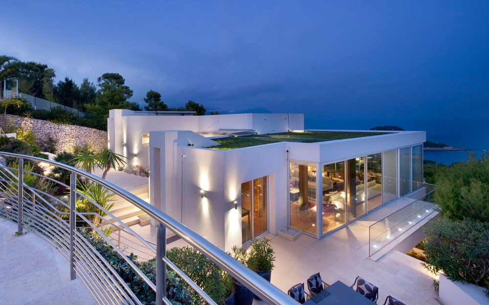 TOP 50 MODERN HOUSE DESIGNS EVER BUILT  Modern glass facade  Minimalist pavilion house  Contemporary facade at night