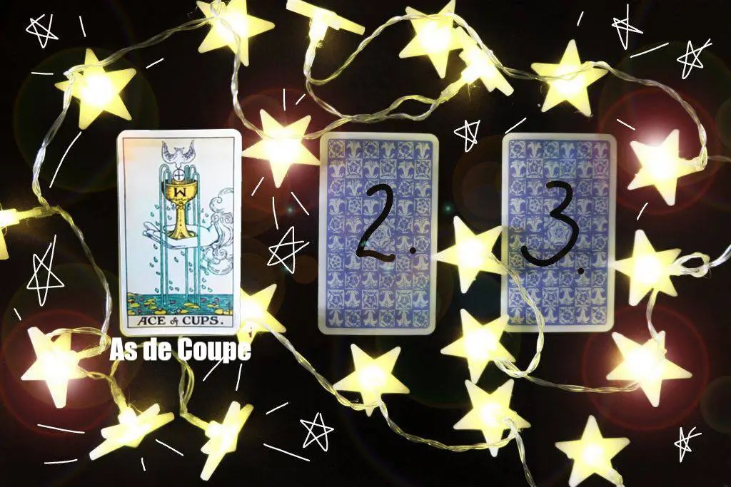 Tirage divinatoire Tarot 3 Cartes As de Coupe