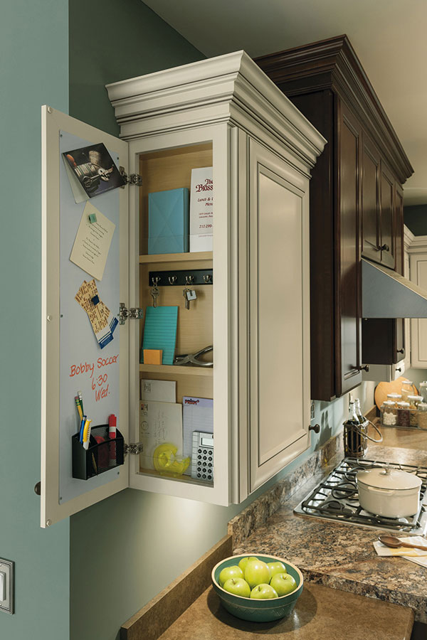 Wall Message Center Cabinet Aristokraft Cabinetry