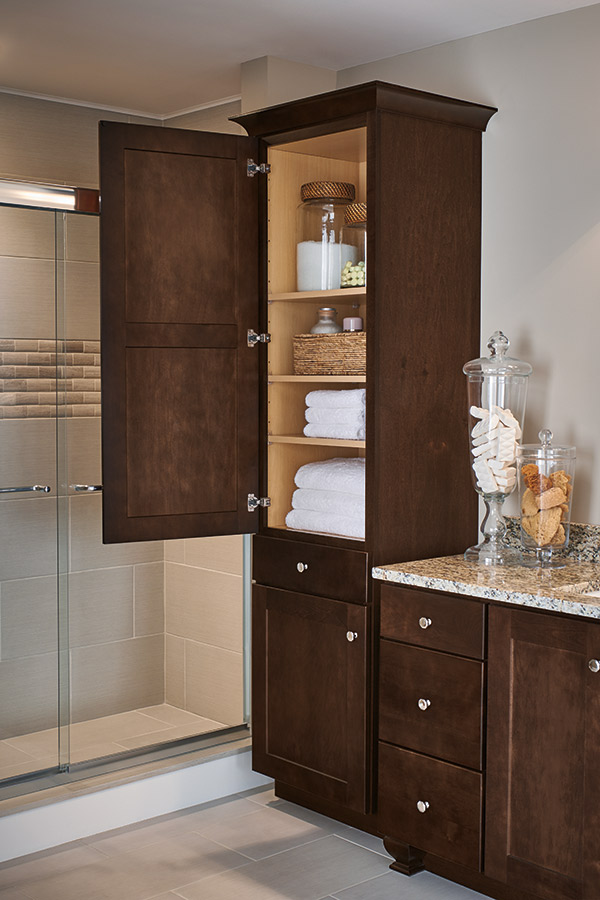 Linen Closet Cabinet Aristokraft Cabinetry