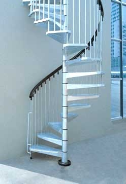 Metal Outdoor Spiral Staircase Exterior Stairs   Outdoor Spiral Staircase Installation   Simple   3 Floor   Outdoor   Backyard   Roof Deck