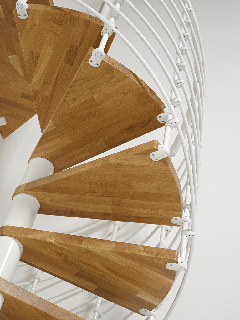 Oak70 Xtra Metal Steel And Wood Spiral Staircase Fontanot