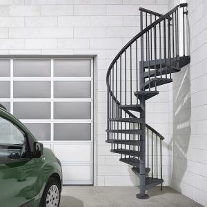 Fontanot Arke Diy Staircase Kits Online | Used Spiral Staircase For Sale | Vertical | Exterior | Contemporary | Wrought Iron | Curved