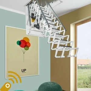 Electric Attic Stairs Archives Metal Steel And Wood Spiral | Spiral Staircase To Attic | Easy | Adding | Stairway | White | Corner