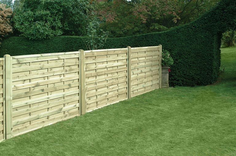 Square Horizontal Panels Home Ark Fencing Decking And