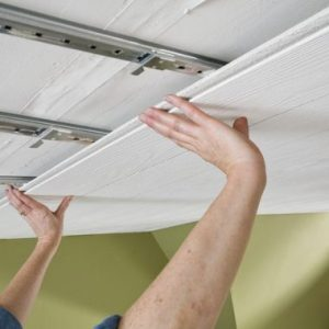 Cover Popcorn Ceilings   Armstrong Ceilings Residential Installing Surface Mount Ceiling Tiles