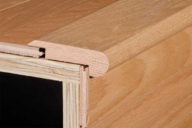 Hardwood Trims And Moldings Hardwood By Armstrong Flooring | Hardwood Floor To Stair Transition | Tile | Molding | Vinyl Plank | Laminate | Carpeted Stairs