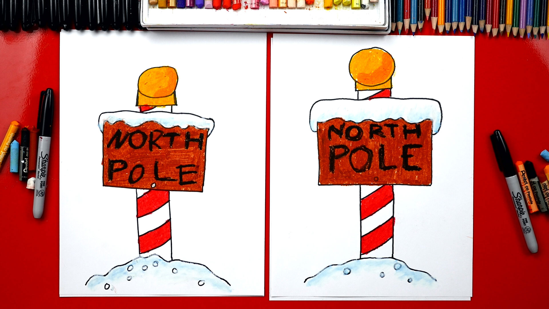 Christmas North Pole Painting