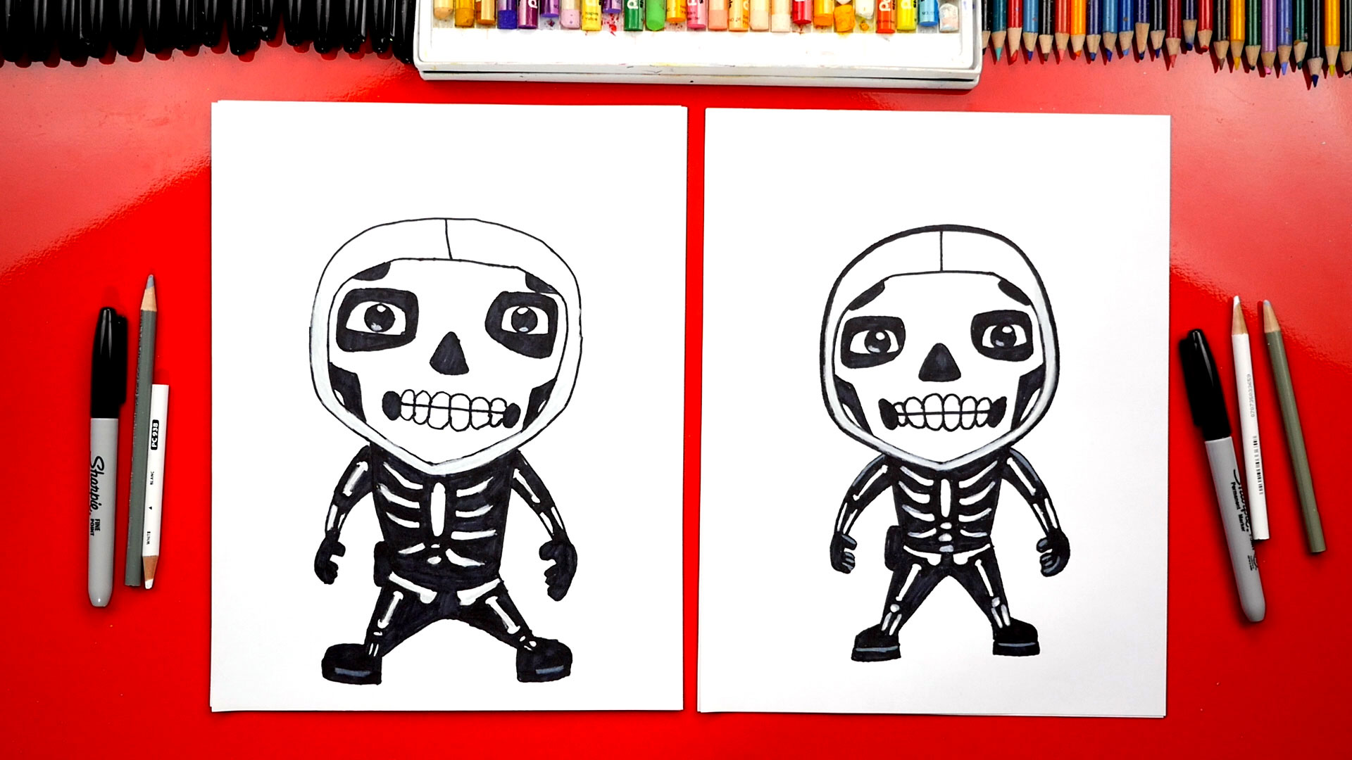 Coloring Skull Pages Fortnite Trooper