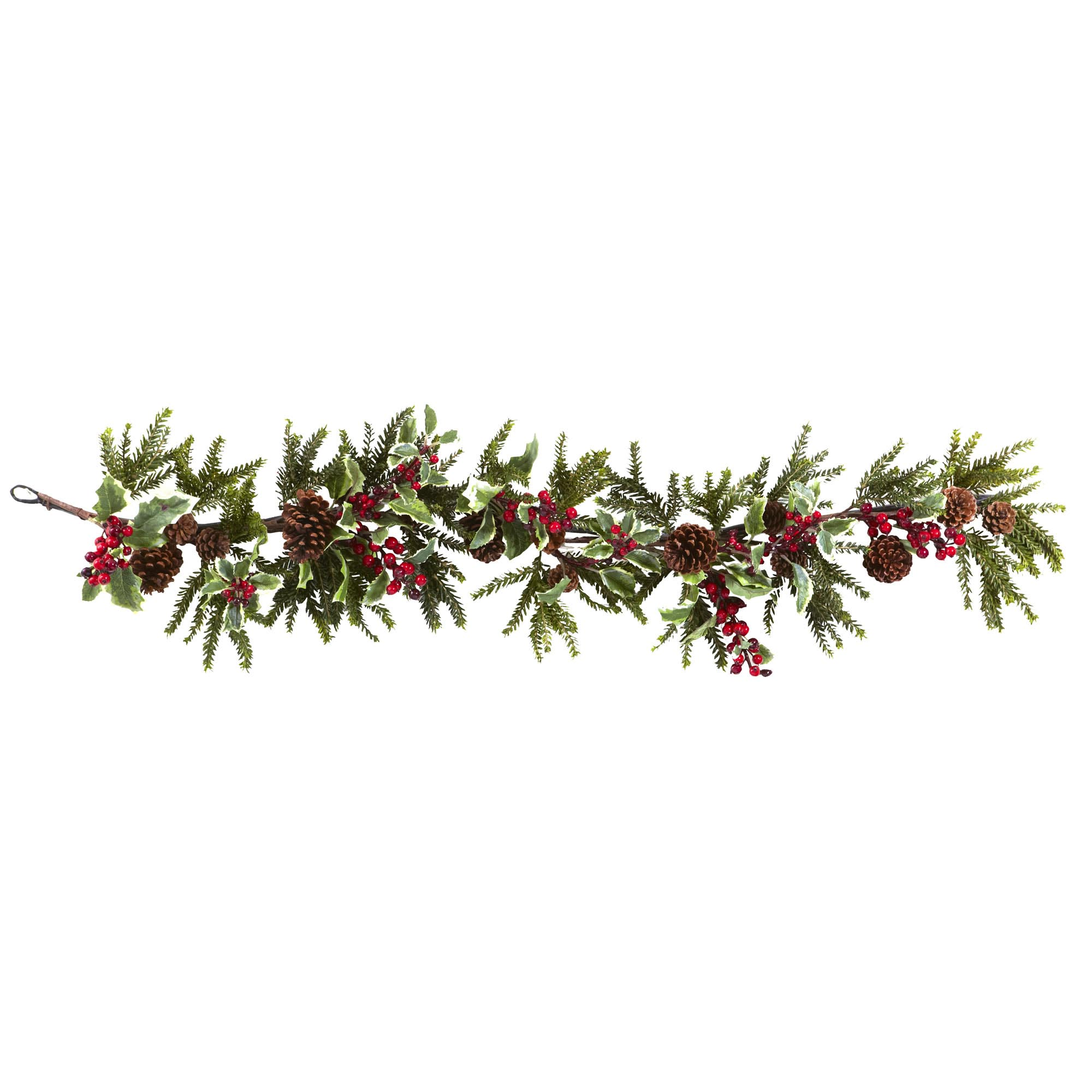 Poinsettia Berry Pine Swag