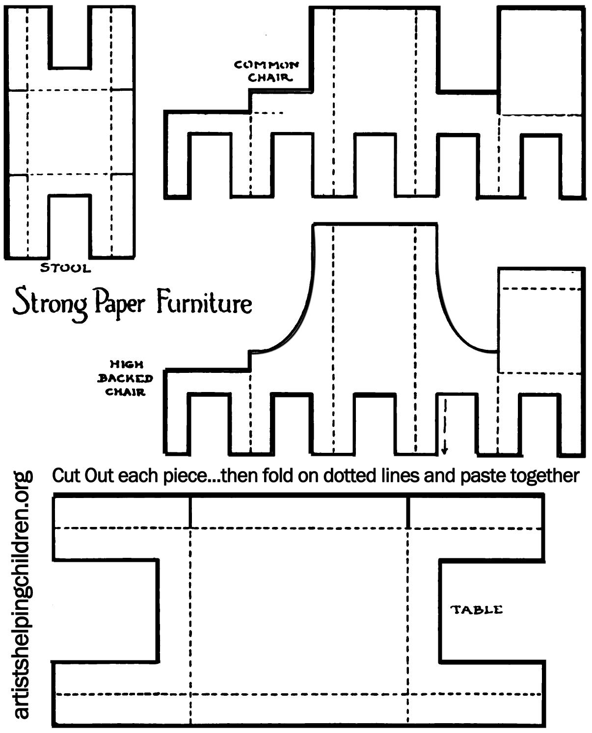 1 4 Scale Furniture Templates