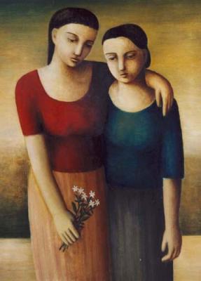 Raymond Boekelder Twee Vrouwen 2 Schilderijen Olieverf