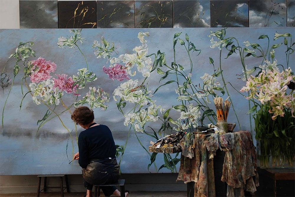 French Artist Claire Basler In Her Home Ch 226 Teau De