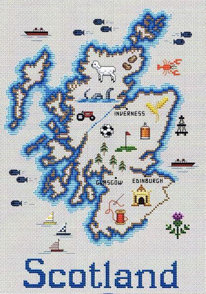 Map Scotland Scotch Whisky