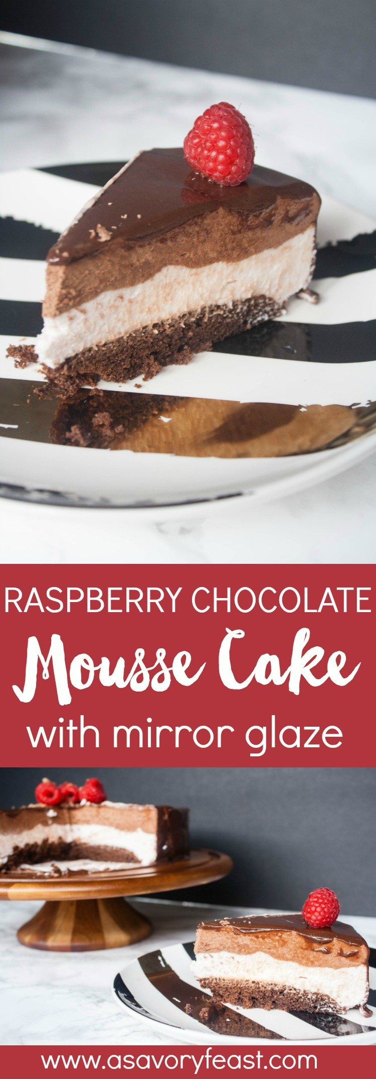 Raspberry Layer Mousse Cake