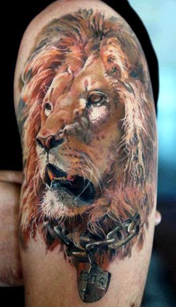 Chinese Lion Tattoos Men