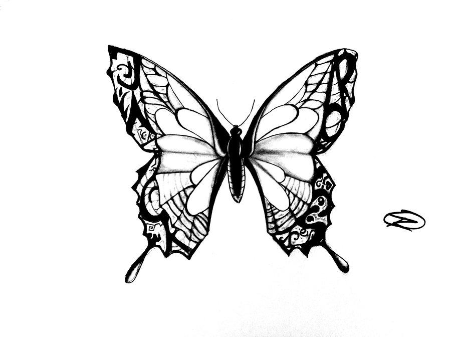Simple Girl Black Outline Drawings