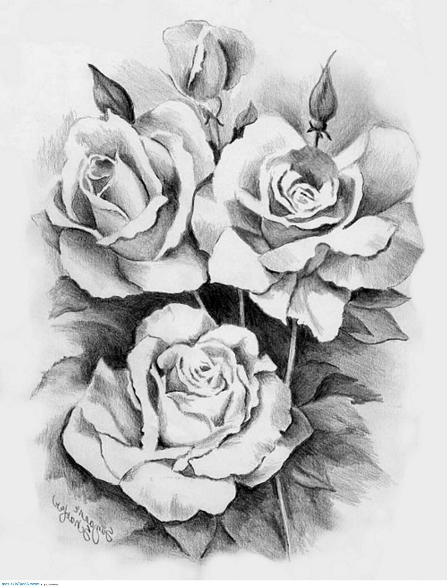 Black Tattoos And Rose White