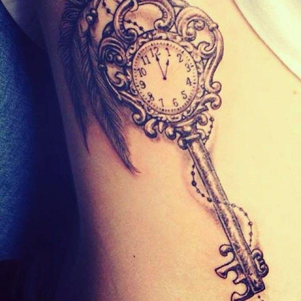 Skeleton Tattoo Old Key