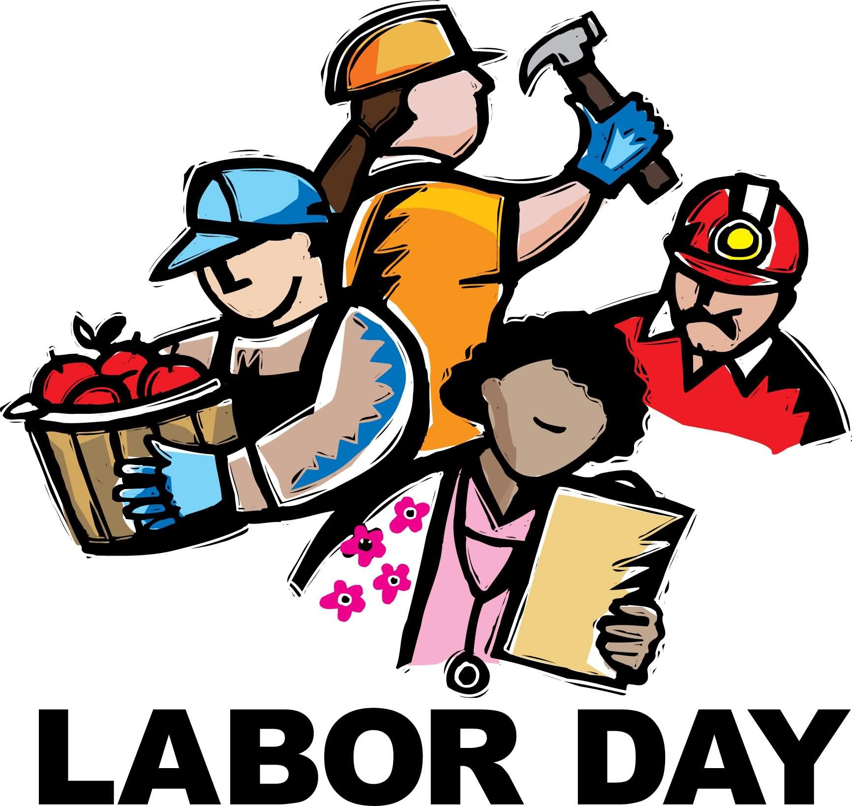 Labor Clip Picnic Day Art