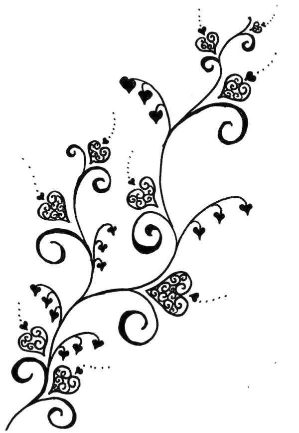 Black And White Vine Stencils