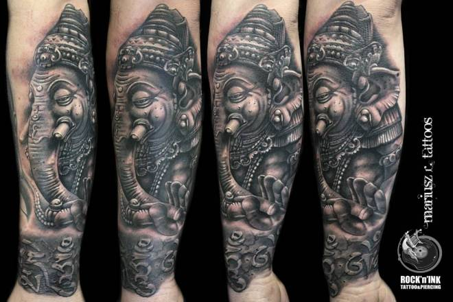 60+ Awesome Ganesha Tattoos