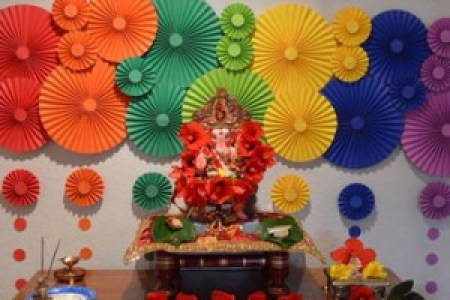 Paper Decoration Ideas For Ganpati Utsav At Home   Decoration For Home 25 Incredible Ganesh Chaturthi Decoration Idea Pictures And Images
