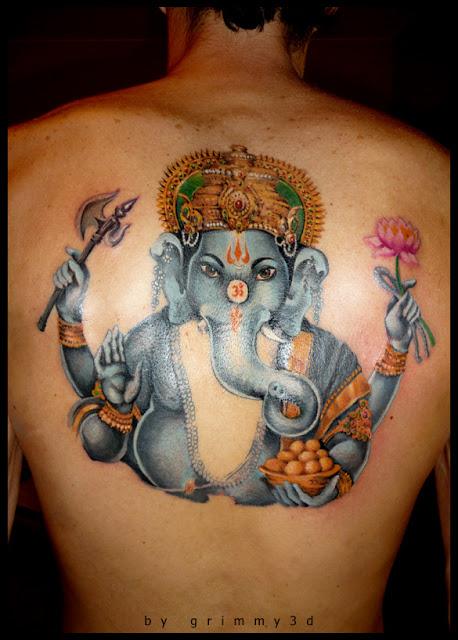 ganesha tattoo for men - 458×640