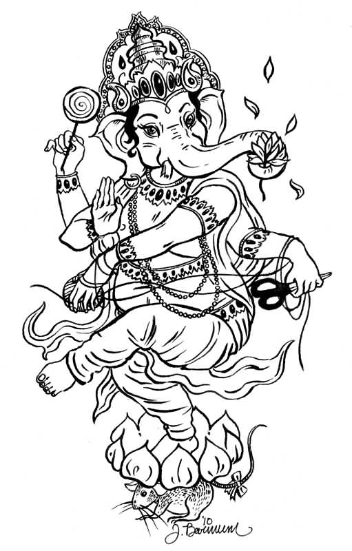 60+ Awesome Ganesha Tattoos
