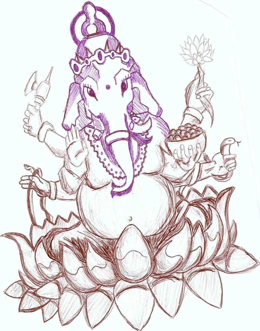 14 Religious Lord Ganesha Tattoo Images, Pictures And Ideas