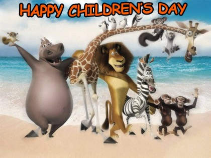 31 Beautiful Happy Children s Day Greeting Cards and Images Animal Kingdom Wishing You Happy Children s Day Greeting Card