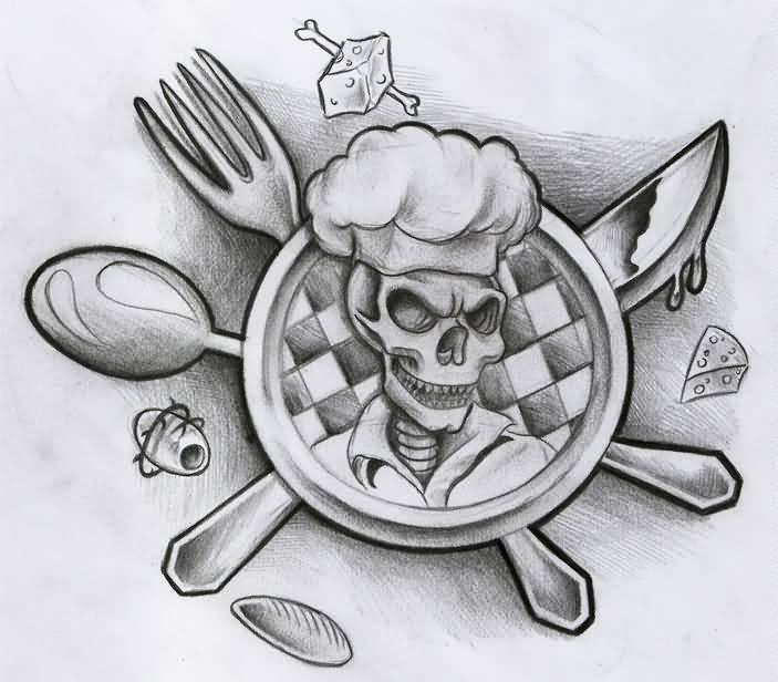 Fork Knife Spoon Tattoo