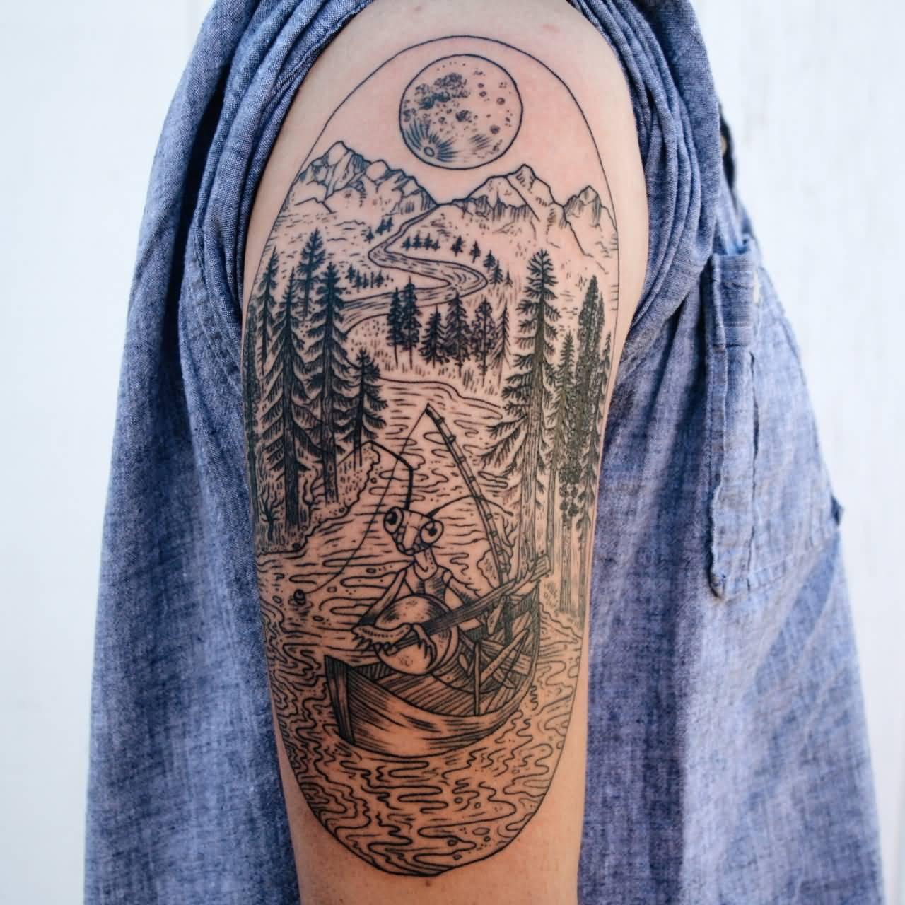 Minimalist Nature Tattoos Half Sleeve