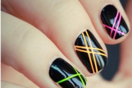 Multicolor Striping Tape Nail Art Tutorial Kuxniya