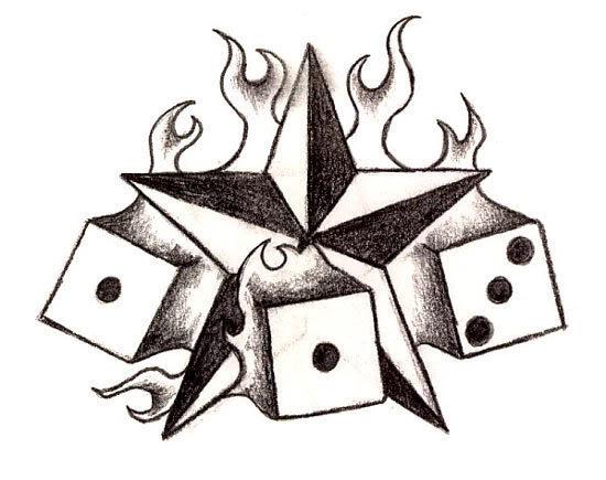 Ace Spades Flaming Tattoo