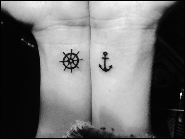 Wheel Anchor Tattoos And Bff
