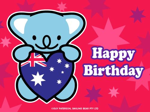 Aussie Birthday Style Happy