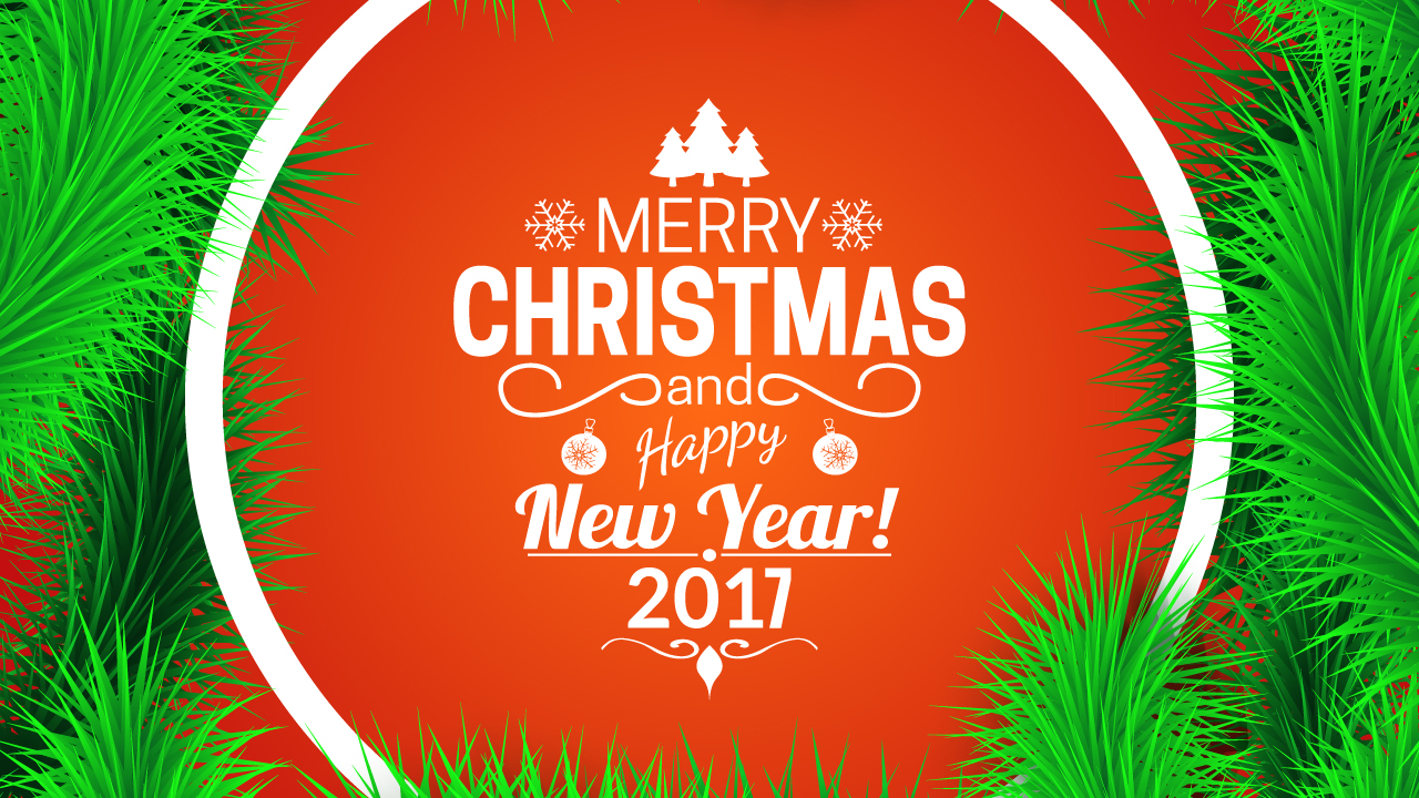 New Merry And Greetings Year Happy 2017 Christmas