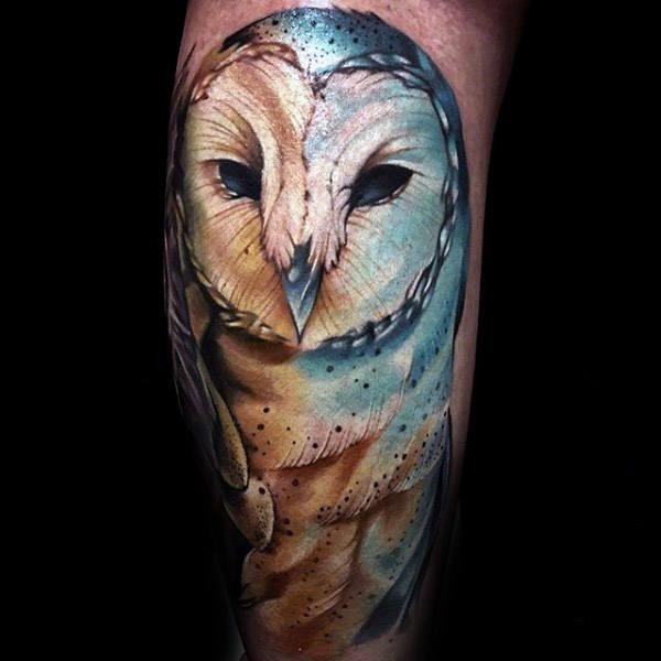 barn owl tattoo - 600×600