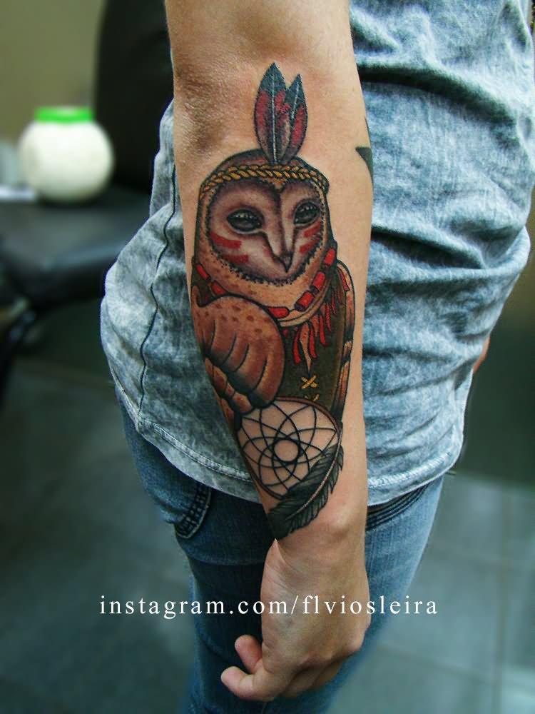 barn owl tattoo - 750×1000
