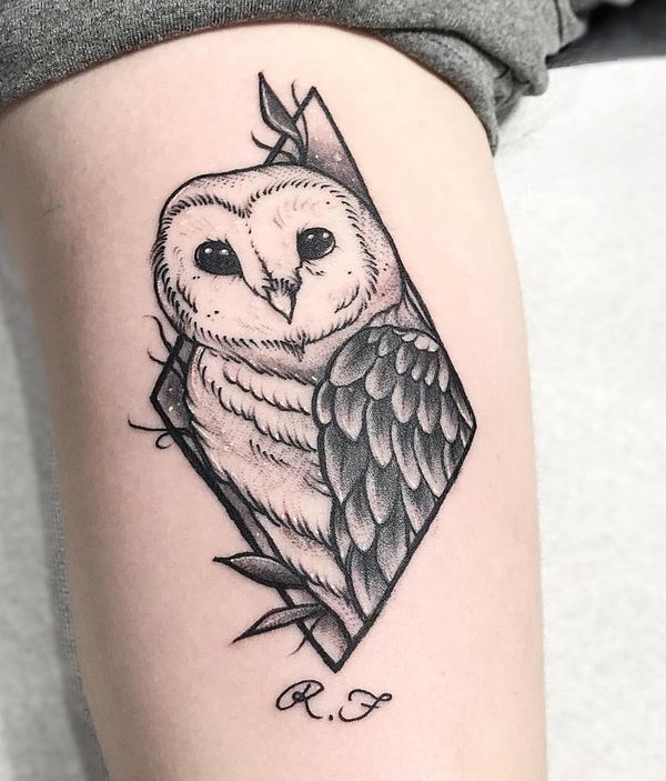 85+ Best Barn Owl Tattoos & Designs With Meanings