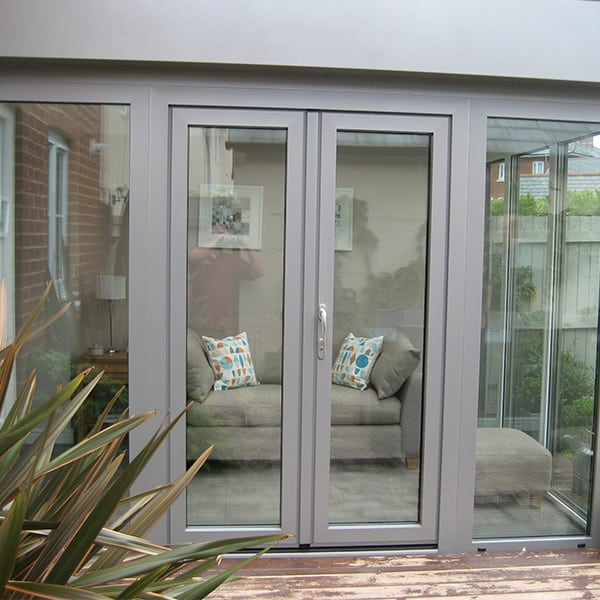 Orangery Extension With Composite French Doors And A Flat