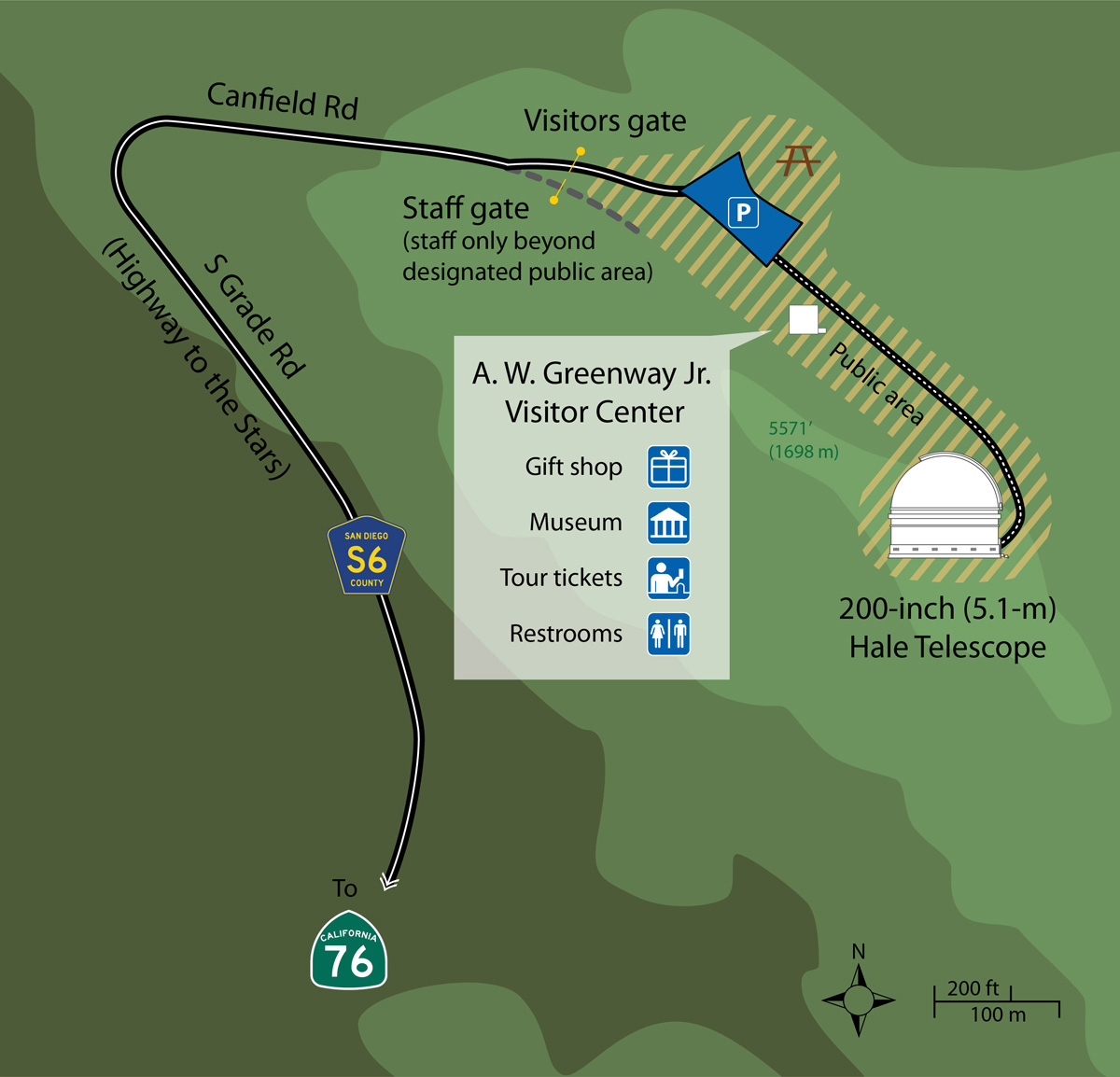 Driving Directions to Palomar Observatory Map of Southern California and Palomar Observatory   Palomar Caltech