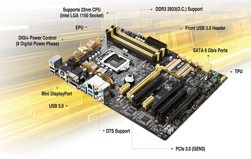 0 Lga Z87 S Motherboard 3 Plus Z87 Atx Sata Intel Usb Asus Hdmi 6gb Intel 1150